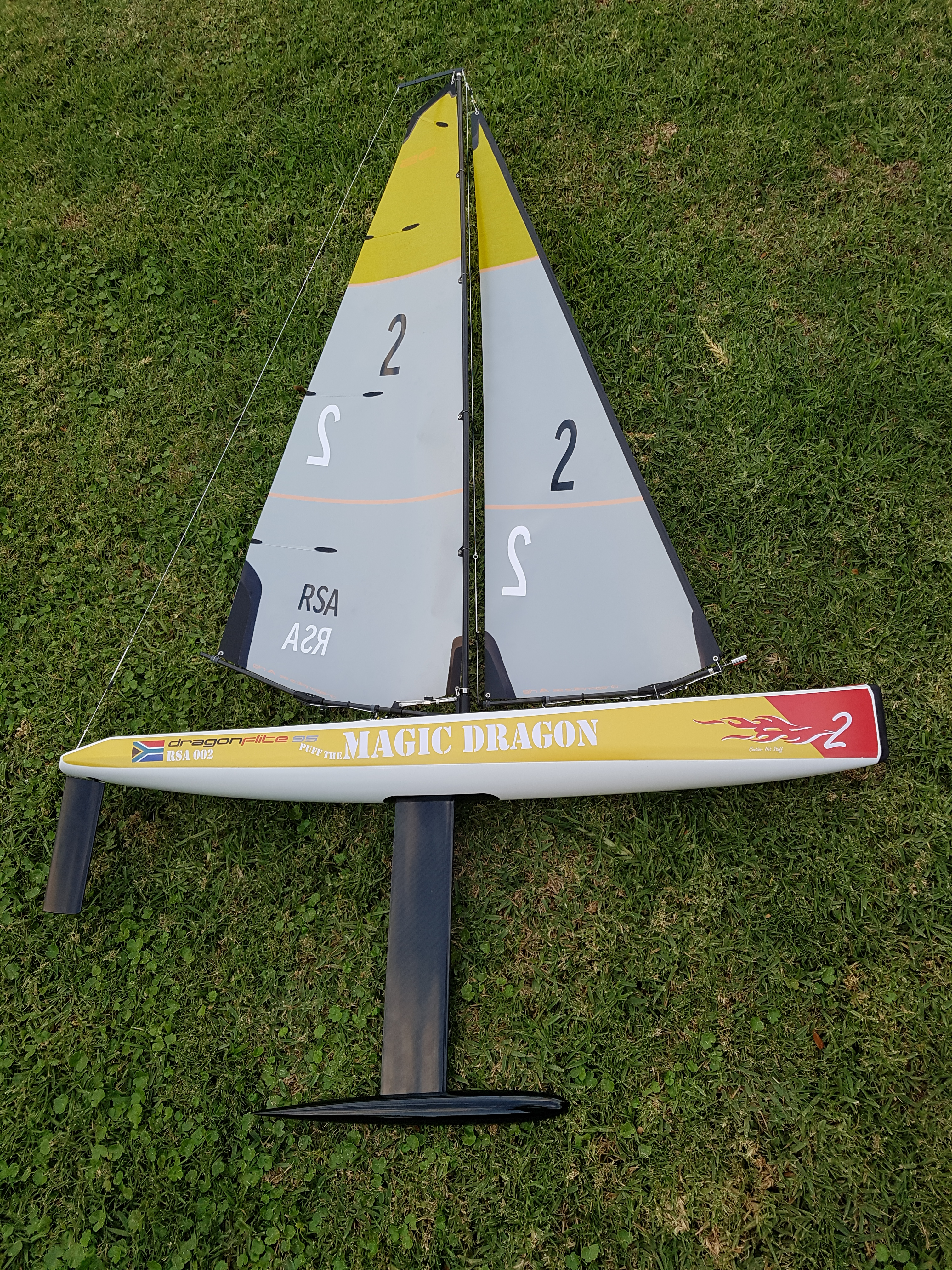 Dragon Flite 95 South Africa Coloured Decals